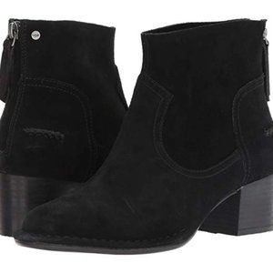 UGG Bandara Black Suede Zipper Ankle Boot NIB